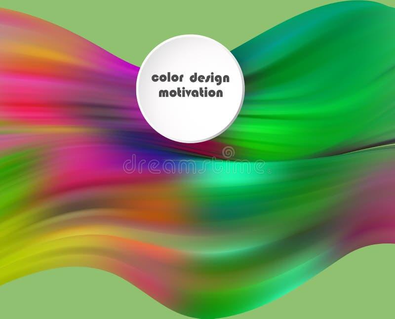 Cartel colorido moderno del flujo Fondo l?quido del color de la forma de la onda Dise?o del arte para su proyecto de dise?o ilustración del vector