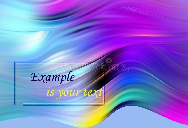 Cartel colorido moderno del flujo Forma líquida de la onda en fondo azul del color Diseño del arte para su proyecto de diseño ilustración del vector
