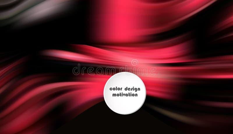 Cartel colorido moderno del flujo Forma líquida de la onda en fondo azul del color Diseño del arte para su proyecto de diseño stock de ilustración