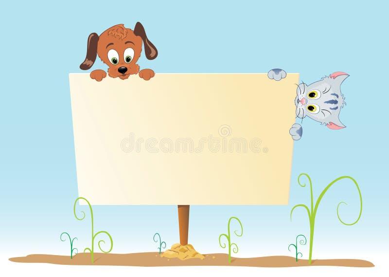 Cartel con el animal imagenes de archivo
