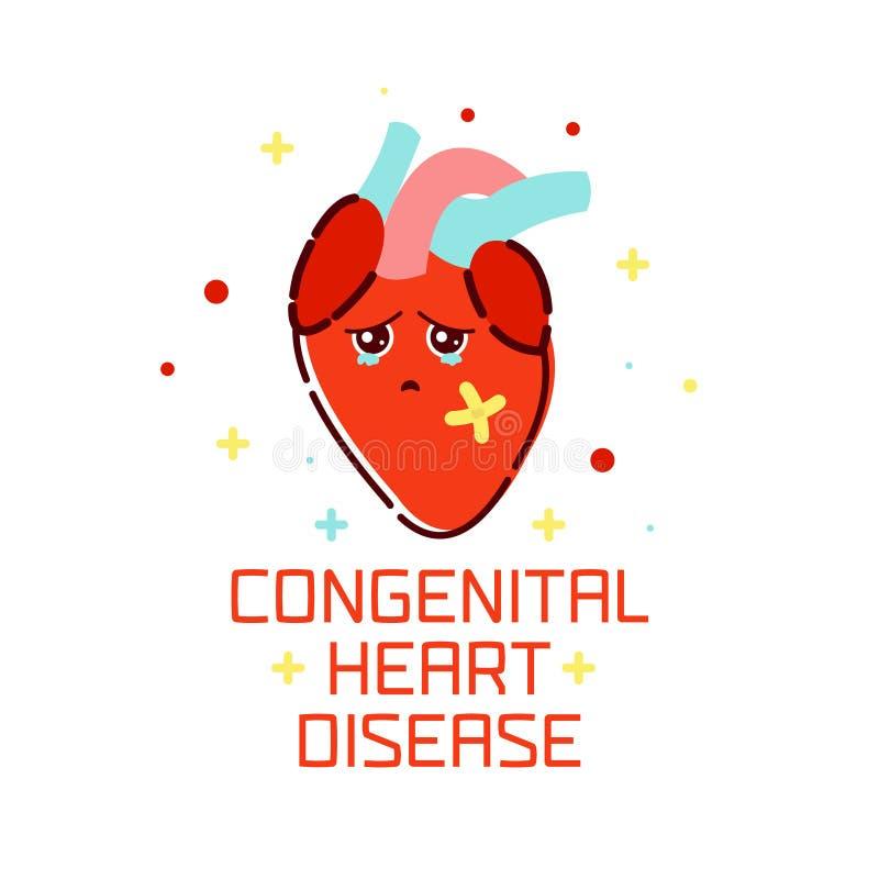 Cartel congénito de la enfermedad cardíaca libre illustration