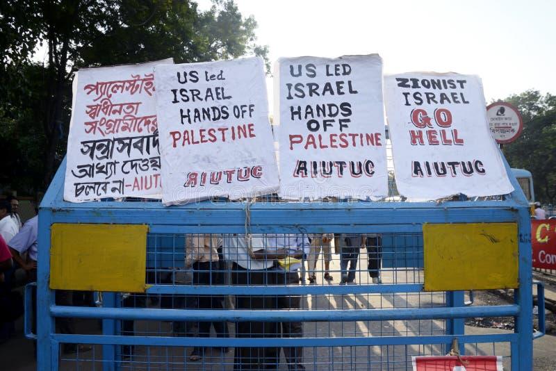 Cartel contra Israel imágenes de archivo libres de regalías