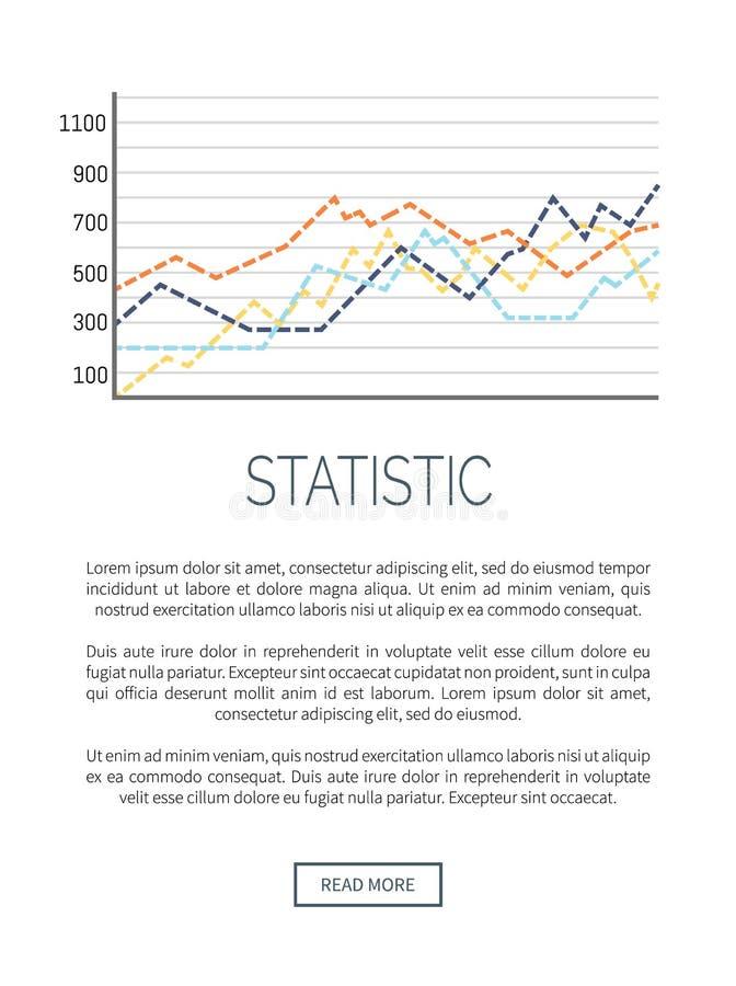 Cartel creciente de la web de la información de datos del organigrama ilustración del vector