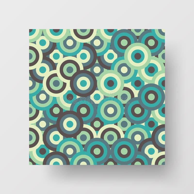 Cartel cuadrado de arte mural vectorial. Fondo de diseño de ilustración geométrica abstracta. Plantilla de folleto de textura c stock de ilustración