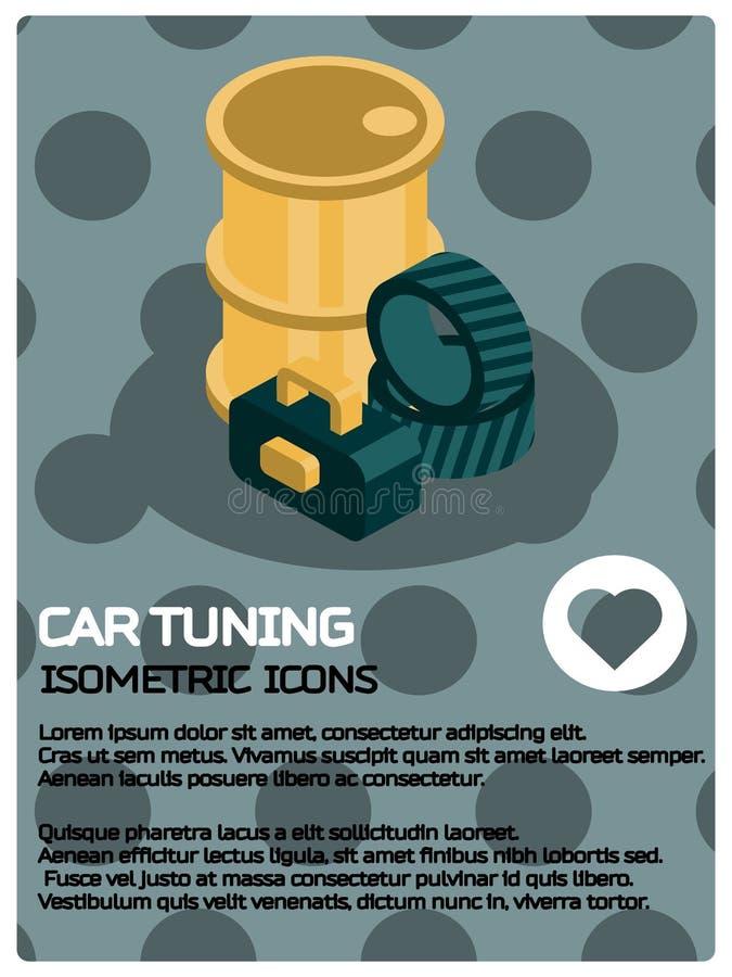 Cartel de adaptación del color del coche stock de ilustración