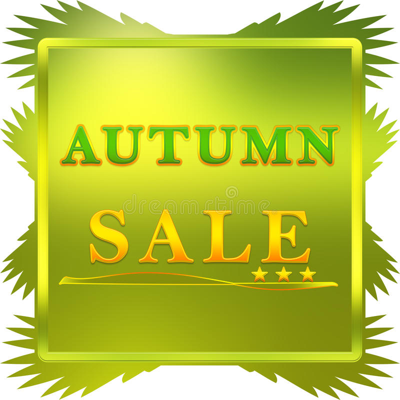 Cartel de Autumn Sale ilustración del vector