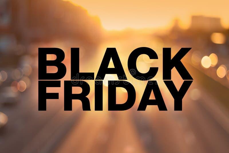 Cartel de Black Friday imagenes de archivo
