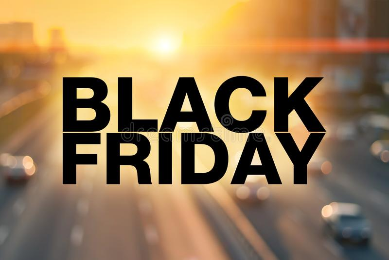 Cartel de Black Friday imagen de archivo libre de regalías