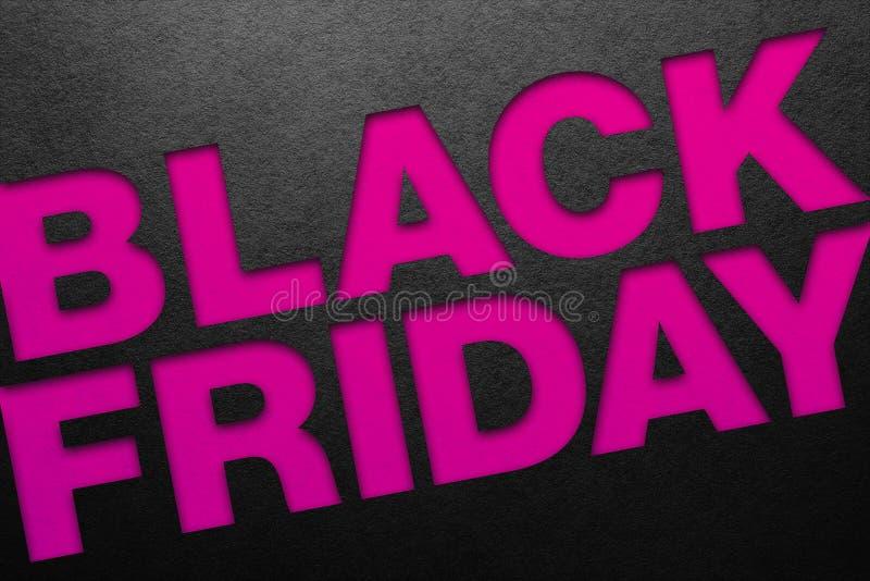 Cartel de Black Friday imagen de archivo