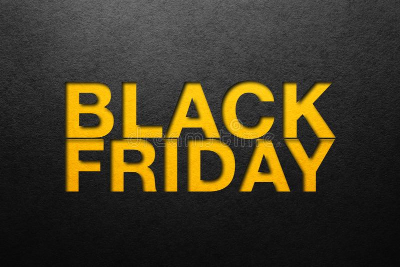 Cartel de Black Friday imágenes de archivo libres de regalías