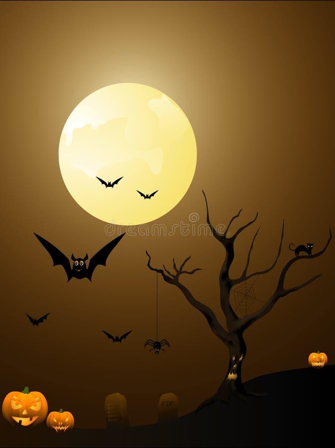Cartel de Halloween fotografía de archivo libre de regalías