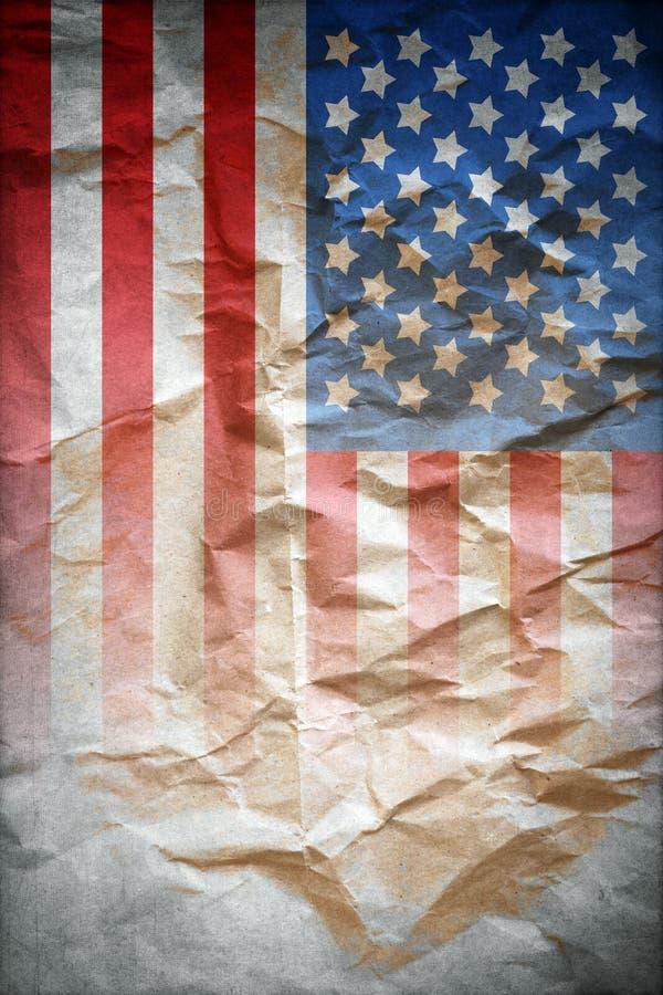 Cartel de la bandera del vintage fotografía de archivo libre de regalías