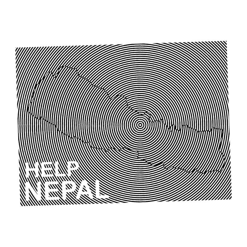 CARTEL de la caridad de Nepal ilustración del vector