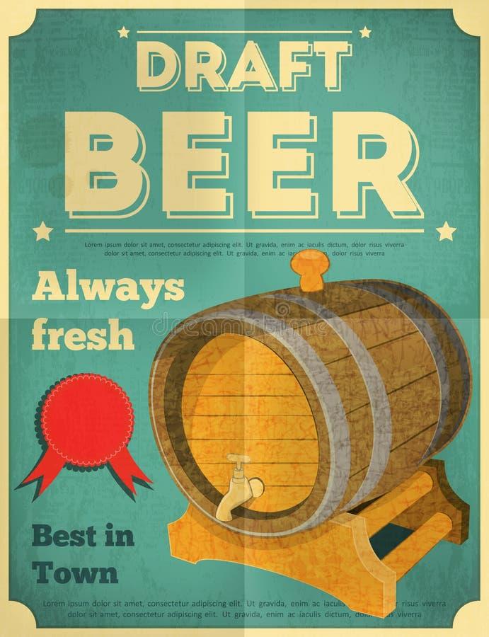 Cartel de la cerveza ilustración del vector