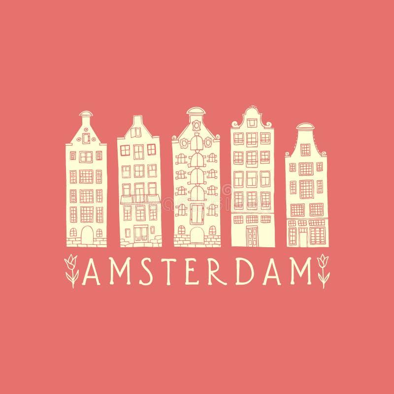 Cartel de la ciudad de Amsterdam libre illustration