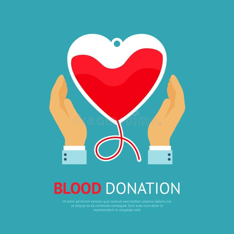 Cartel de la donación de sangre stock de ilustración