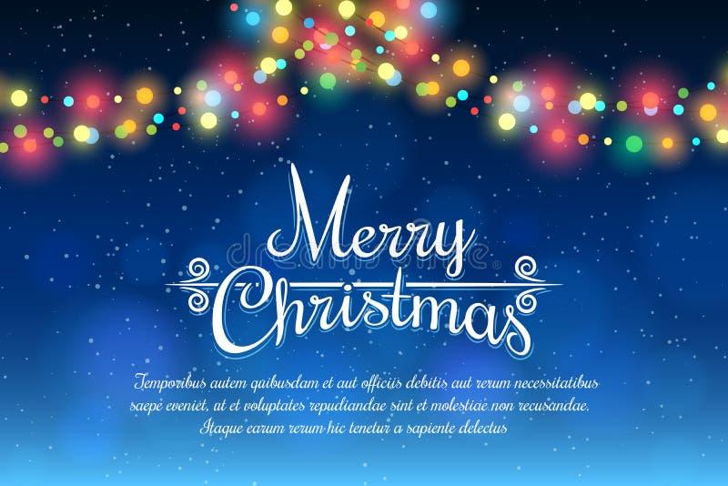 Cartel de la Feliz Navidad stock de ilustración