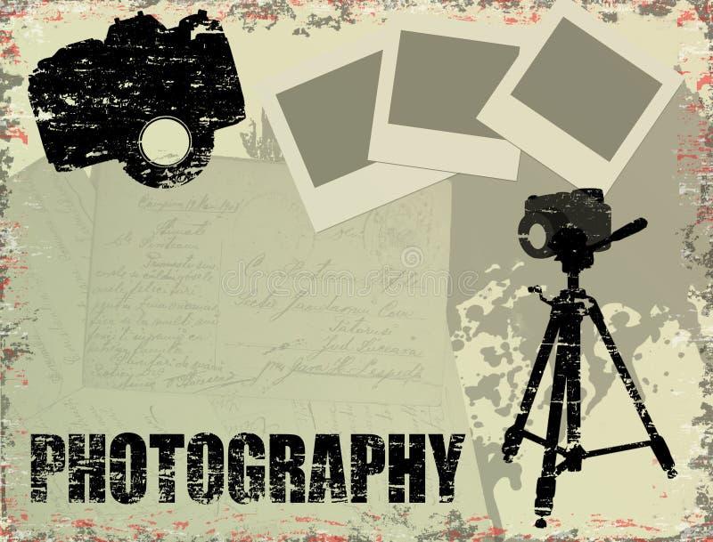 Cartel de la fotografía de la vendimia ilustración del vector