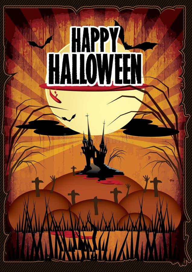 Cartel de la historieta del feliz Halloween foto de archivo libre de regalías