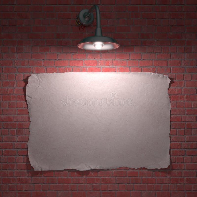 Cartel de la lámpara ilustración del vector