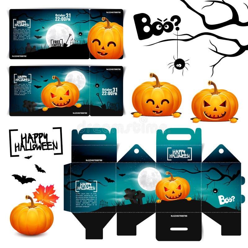Cartel de la linterna del enchufe de la cabeza de la calabaza de Halloween fotografía de archivo