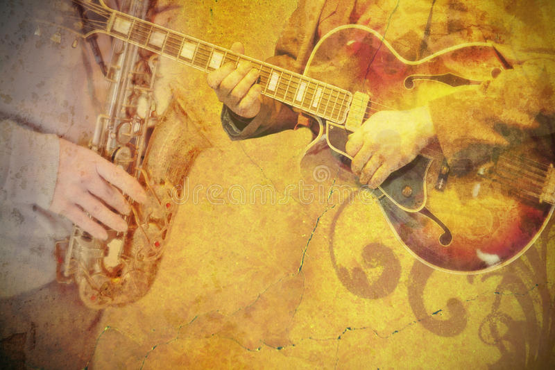 Cartel de la música foto de archivo
