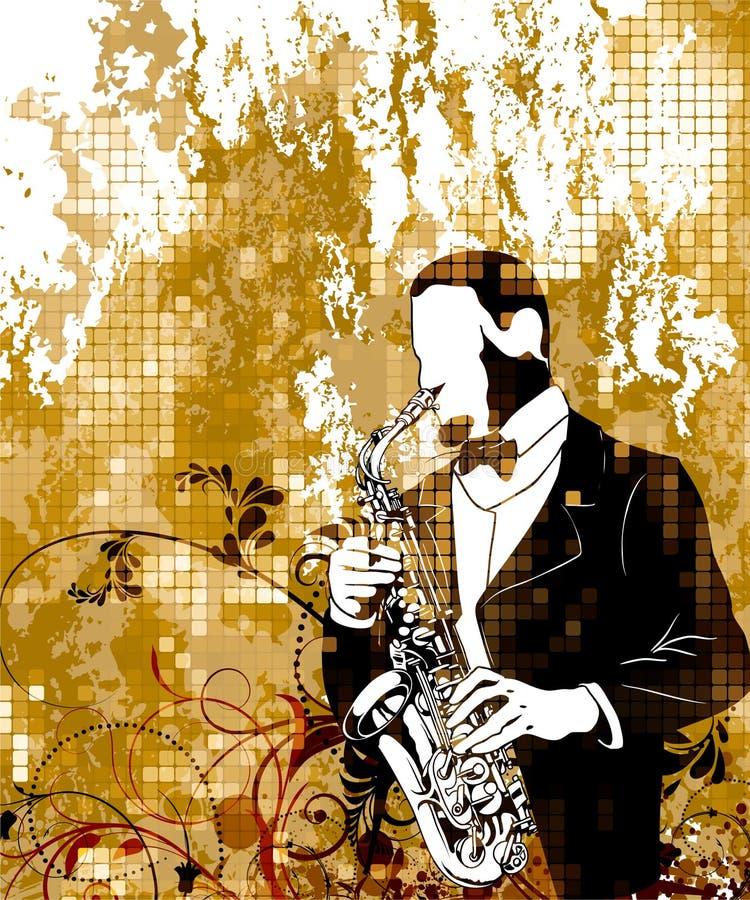 Cartel de la música de la vendimia ilustración del vector