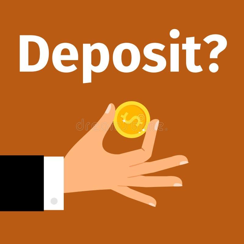 Cartel de la motivación para el depósito del dinero stock de ilustración