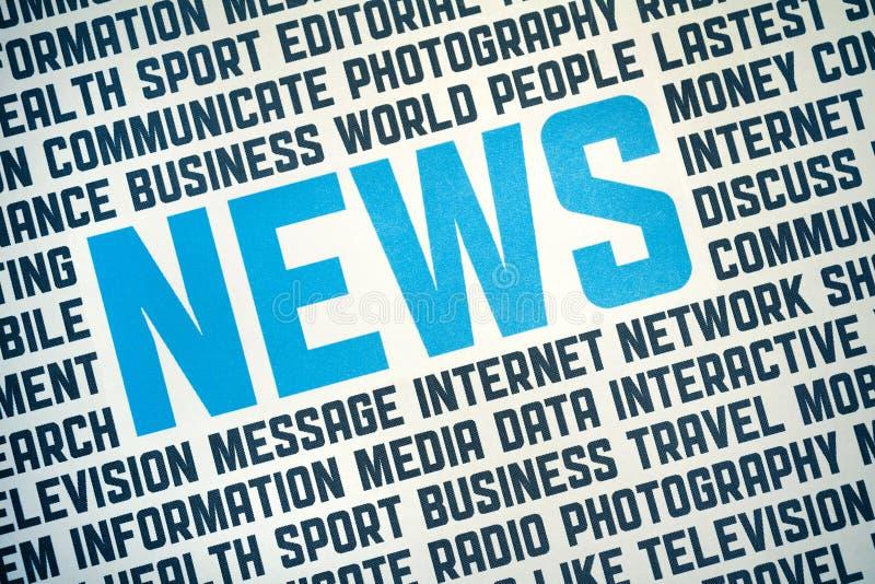 Cartel de la muestra de las noticias ilustración del vector