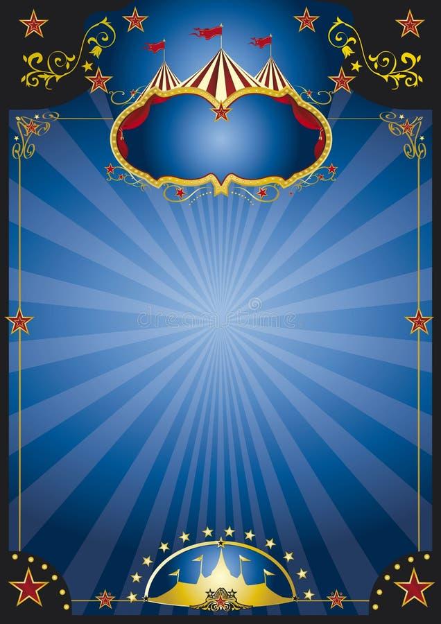 Cartel de la noche del circo ilustración del vector