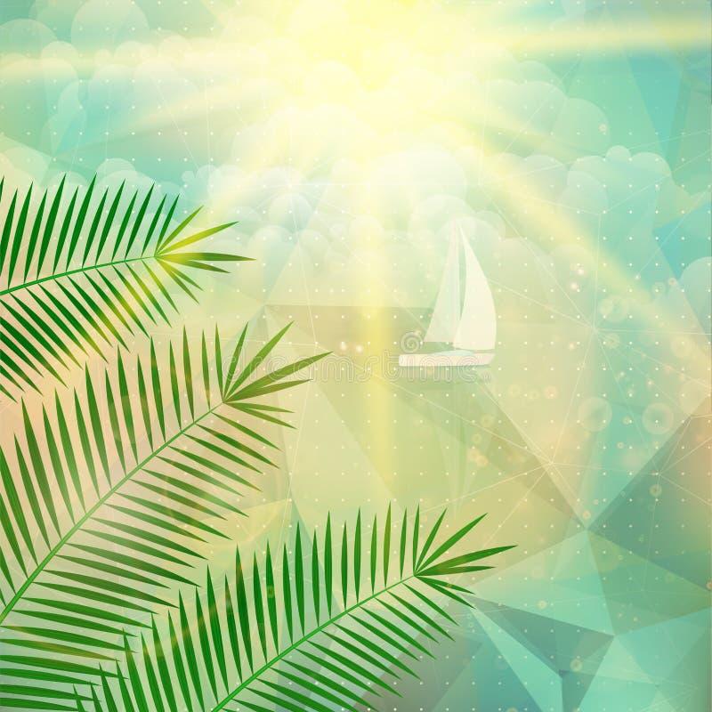 Download Cartel De La Opinión De La Playa Extracto Geométrico Ilustración del Vector - Ilustración de azul, lugar: 41900527