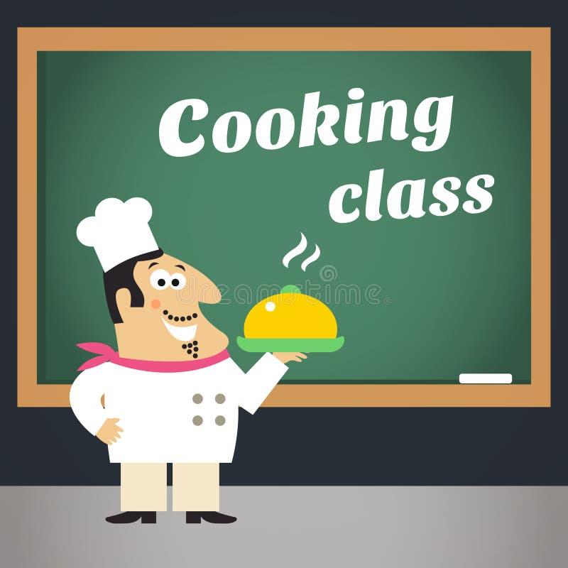 Cartel de la publicidad de la clase de cocina libre illustration