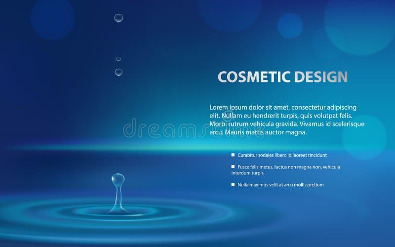 Cartel de la publicidad de un producto cosmético hidratante ilustración del vector