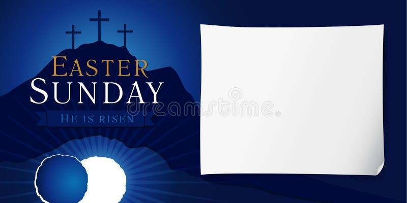 Cartel de la semana santa de pascua domingo stock de ilustración