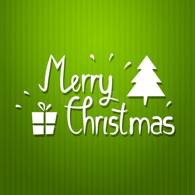 Cartel de la tipografía de la Navidad del vector libre illustration