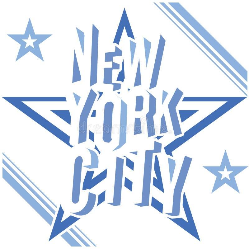 Cartel de la tipografía del grunge de New York City, diseño de la impresión de la camiseta, etiqueta del Applique de la insignia  libre illustration