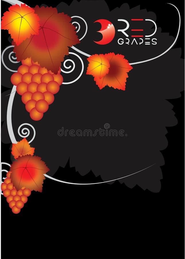 Cartel de la uva imagen de archivo