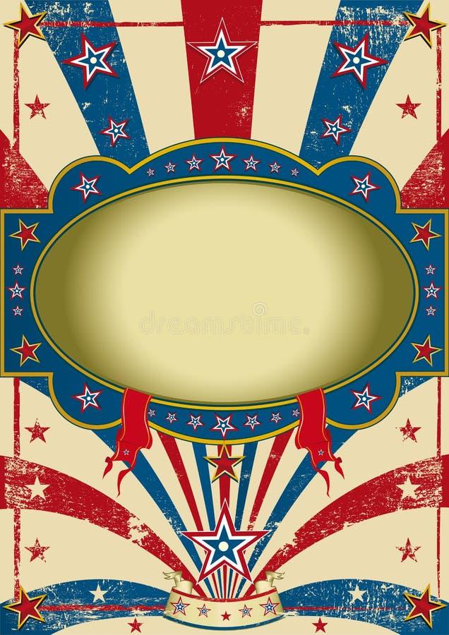 Cartel de la vendimia del circo ilustración del vector
