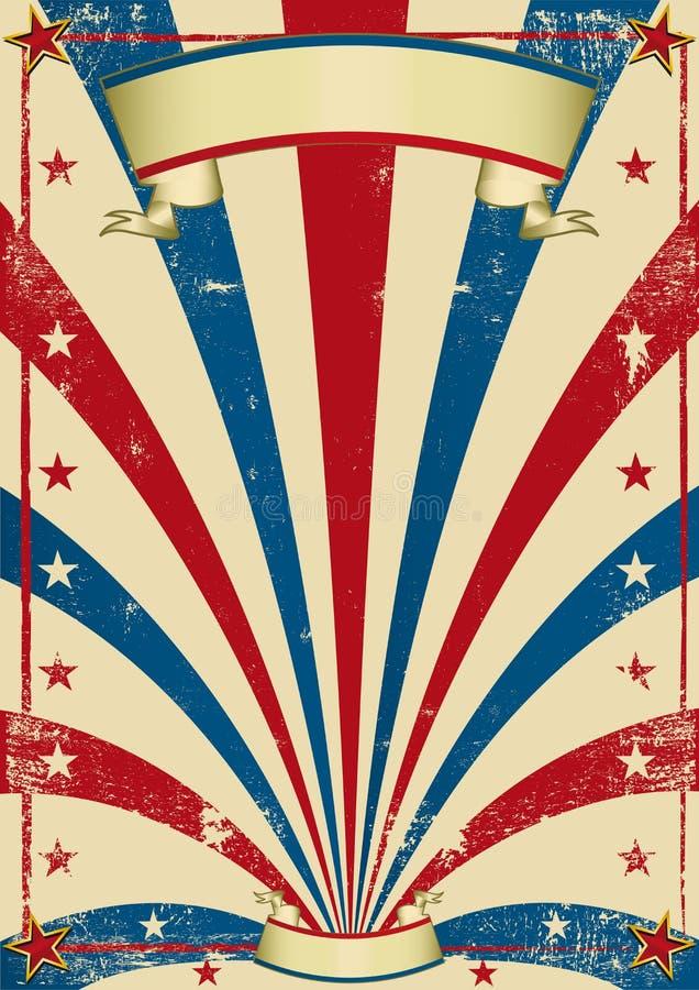 Cartel de la vendimia del circo stock de ilustración
