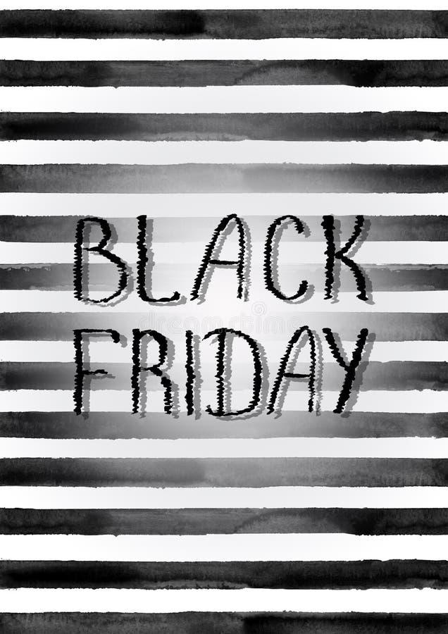Cartel de la venta de Black Friday stock de ilustración