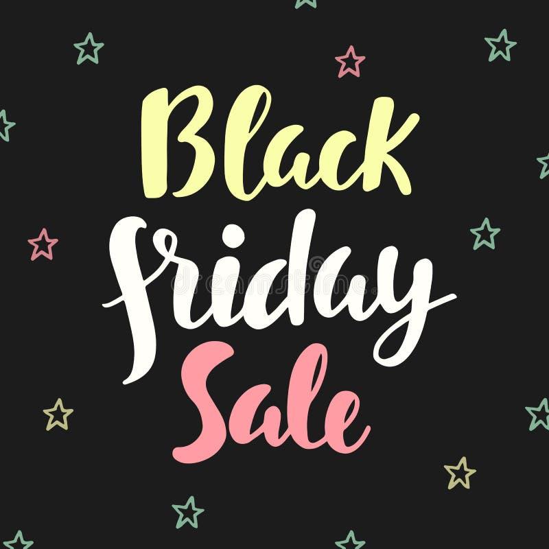 Cartel de la venta de Black Friday Letras escritas mano del cepillo libre illustration