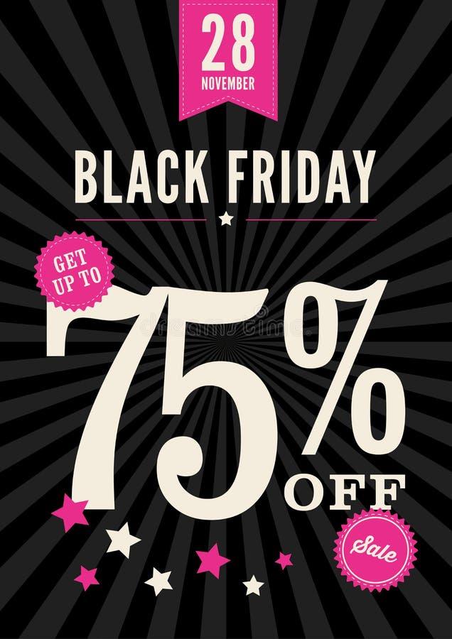 Cartel de la venta de Black Friday ilustración del vector