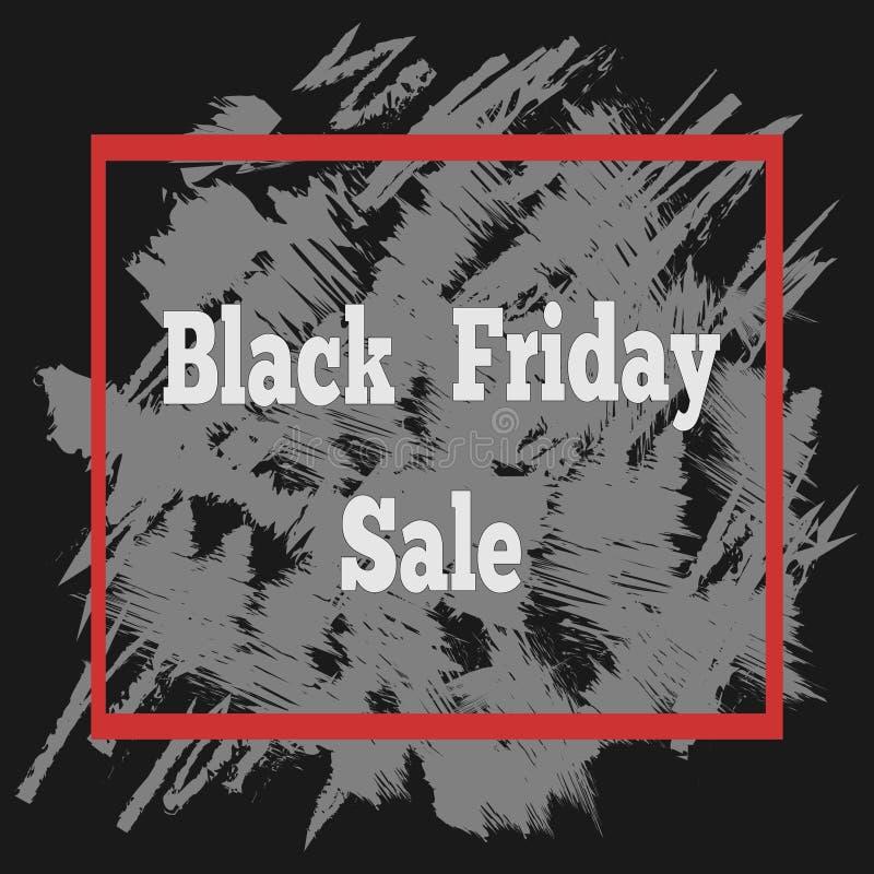 Cartel de la venta de Black Friday con letras ilustración del vector