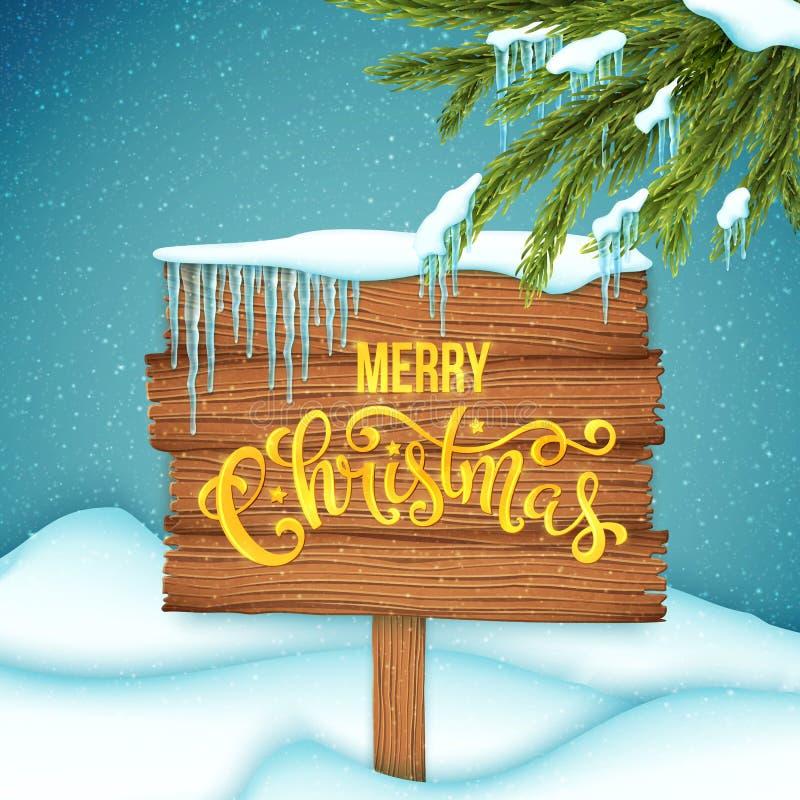 Cartel de la venta de la Navidad libre illustration