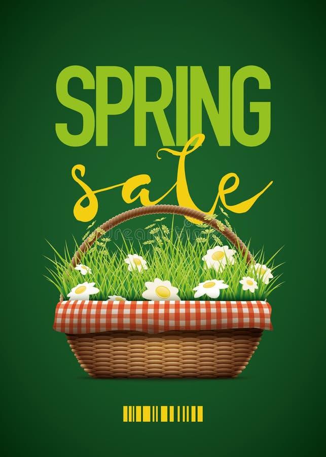 Cartel de la venta de la primavera ilustración del vector
