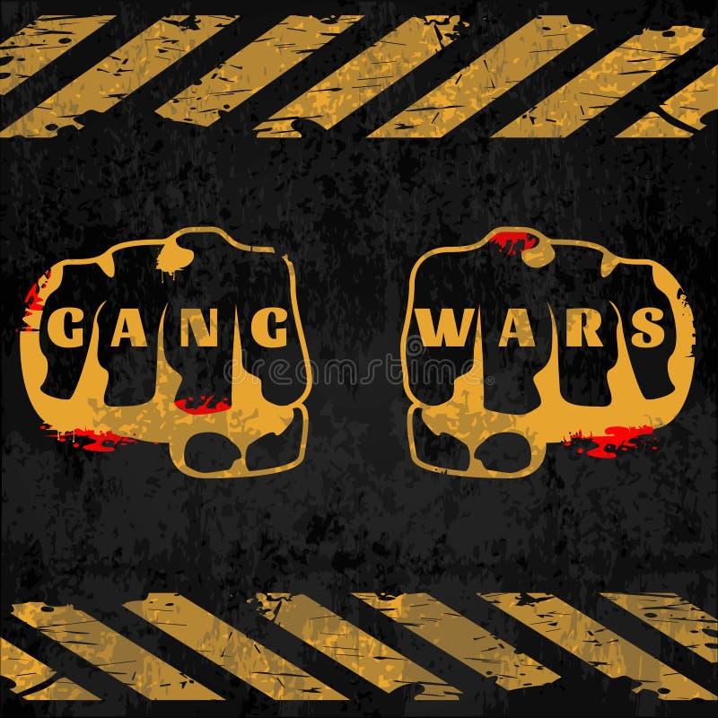 Cartel de las guerras de la cuadrilla de la calle ilustración del vector