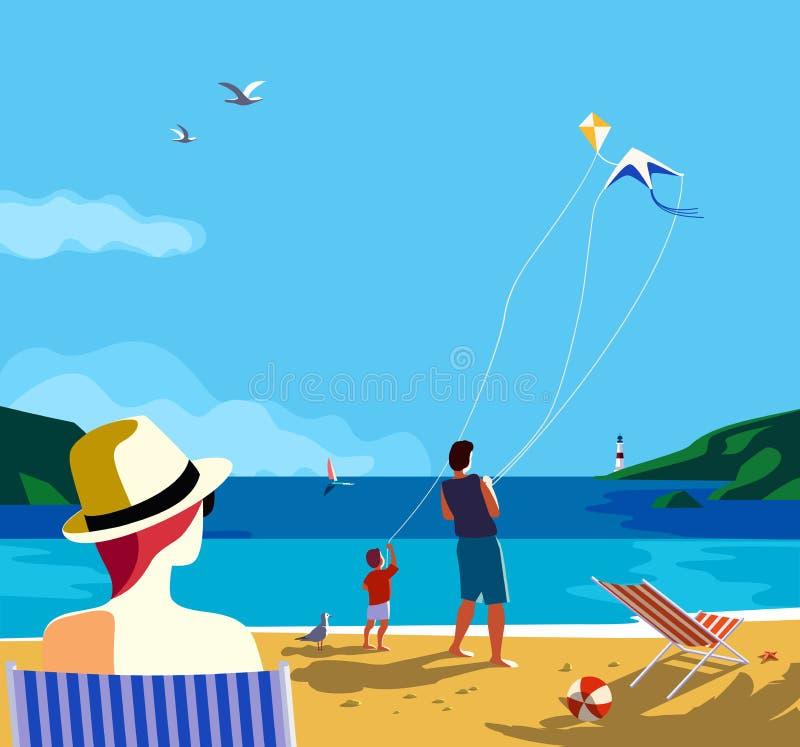 Cartel de las vacaciones de verano ilustración del vector
