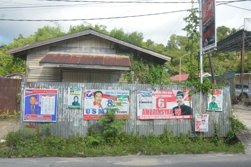 Cartel de los candidatos a la legislatura fotografía de archivo libre de regalías