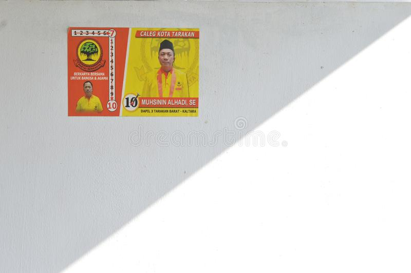 Cartel de los candidatos a la legislatura fotografía de archivo