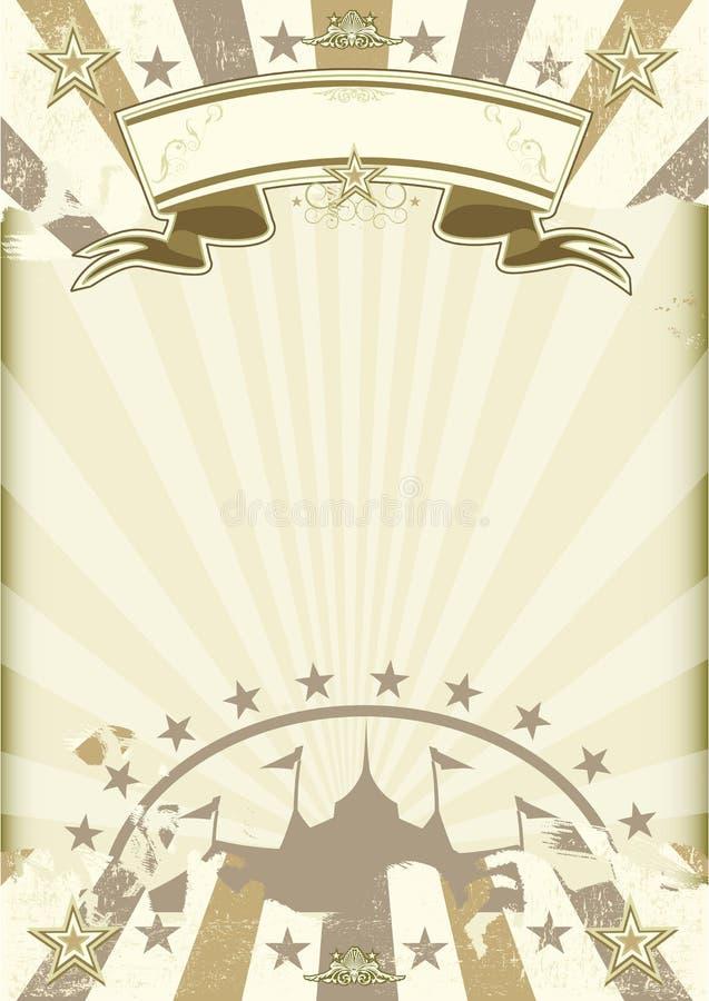 Cartel de los rayos de sol del circo del papel de Kraft libre illustration